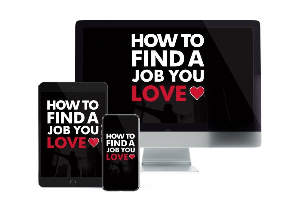 How To Find A Job You Love Online Course Mock Up